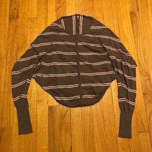Free People Dolman Striped Knit Cardigan